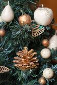 新年のモミの木のおもちゃ — ストック写真