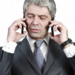 Businessman under pressure — Stock Photo