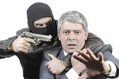 Businessman in danger — Stock Photo