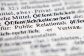 Öffentlichkeitsarbeit - Public relations — Stock Photo