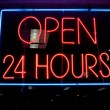 Royalty-Free Stock Photo: Open 24 hours sign
