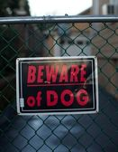 Beware of dog — Stock Photo