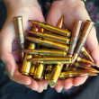 Stock Photo: Handful of bullets