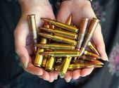 Handful of bullets — Stockfoto