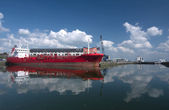 Red tanker ship — Stock Photo