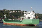 Loď z doků — Stock fotografie
