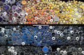 çeşitli renkli düğmeler — Stok fotoğraf
