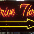Drive thru neon sign — Stock Photo
