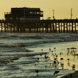 Huntington Beach evening - Stock Photo