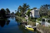Venice canals , los angeles — Stock Photo