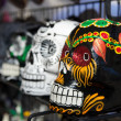 Stock Photo: Day of dead colorful skulls
