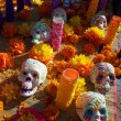 Colorful day of the dead alter - Stock Photo