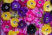 Day of the dead skull flowers — Stock Photo