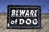 Beware of dog sign — Foto de Stock