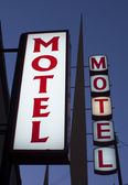 Motel signs — Stock Photo