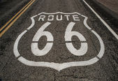 Route 66 roadway — Stock Photo