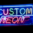 Custom neon sign — Stock Photo