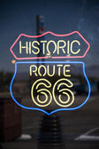 Route 66 neon sign — Stock Photo