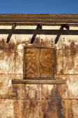 Rusty building texture — Stock Photo
