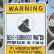 Stock Photo: Neighborhood watch sign