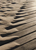 Drifting beach sand abstract — Stock Photo