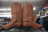 Vintage cowboy boots — Stock Photo