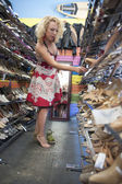 Woman trying out shoes — Stock Photo