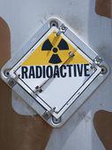Radioactive warning sign — Stock Photo