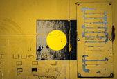 Pozadí žluté plechové panely — Stock fotografie