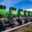 Logistic Trucks parked — Stock Photo