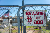 Guard dog sign — Stock Photo