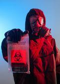 Biohazard soldier — Stock Photo