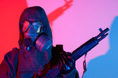 Chemical warfare fear — Stock Photo