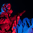 Chemical warfare soldier — Stock Photo