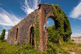 Railroad station ruïnes — Stockfoto