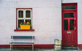 Fût traditionnel de pub et de la bière irlandaise — Photo