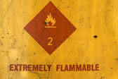 Extremely flammable sign — Stock Photo