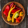 Chillies dinner — Stock Photo