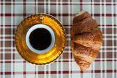 Coffee and croissant — Foto Stock