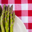 Close up of asparagus on plate — Stock Photo #32325747