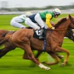 "Horse Racing ""Bewegungsunschärfe"" — Stockfoto"