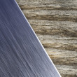 Brushed metal wood background — Stock Photo #33695243