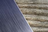 Brushed metal wood background — Stock Photo