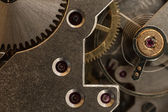 Pocket watch mechanism close up — Stock Photo