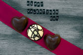Valentines day chocolates background — Stock Photo