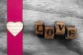 Love letters heart background — Stock Photo