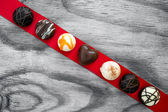 Valentine day chocolate background — Stock Photo