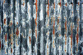 Rusty grey corrugated iron abstract — Stok fotoğraf