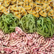 Various different colourful pasta backgrounds — Stock Photo
