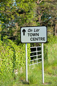 Road sign direction to Town Centre — Stock Photo